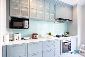 ชุดครัวบิ้วอินสาย Classic Kitchen I Shape 2 ฝั่ง สุดน่ารัก, ครัวตัวไอ, ชุดครัวบิ้วอิน, ชุดครัวคลาสสิก, ครัวตัวไอ 2 ฝั่ง, หน้าบานคลาสสิก, ชุดครัวพลาสวูด,