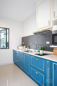 ชุดครัวคลาสสิกสุดหรู, Classic & Luxury, Mini Kitchen I Shape, ครัวตัวไอ, ครัวขนาดเล็ก, ครัวทูโทน,