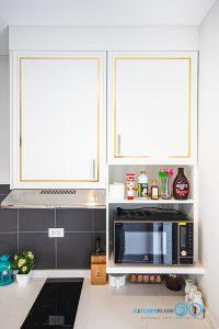 ชุดครัวคลาสสิกสุดหรู, Classic & Luxury, Mini Kitchen I Shape, ครัวตัวไอ, ครัวขนาดเล็ก, ตู้ลอย, ตู้แขวน,