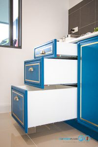 ชุดครัวคลาสสิกสุดหรู, Classic & Luxury, Mini Kitchen I Shape, ครัวตัวไอ, ลิ้นชักชุดครัว,